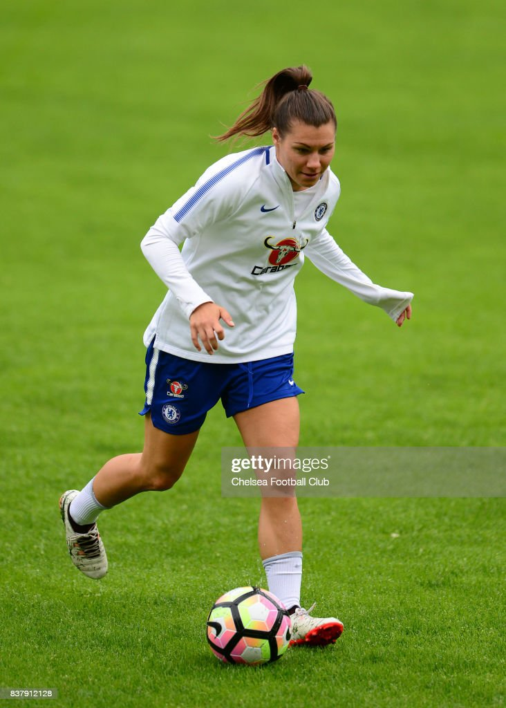 Ramona Bachmann of Chelsea during a training session on August 23, 2017 in Schladming, Austria.