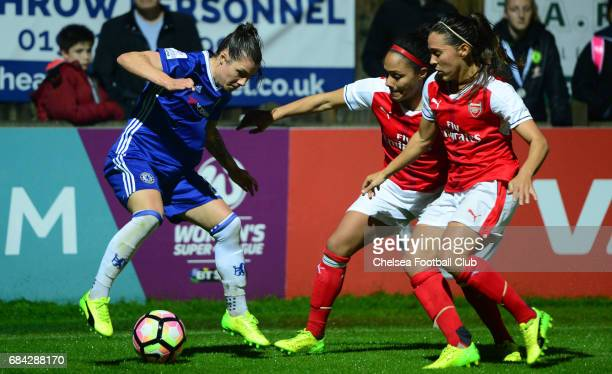 Ramona Bachmann of Chelsea during a WSL 1 match between Chelsea Ladies FC and Arsenal Ladies FC on May 17 2017 in Staines England