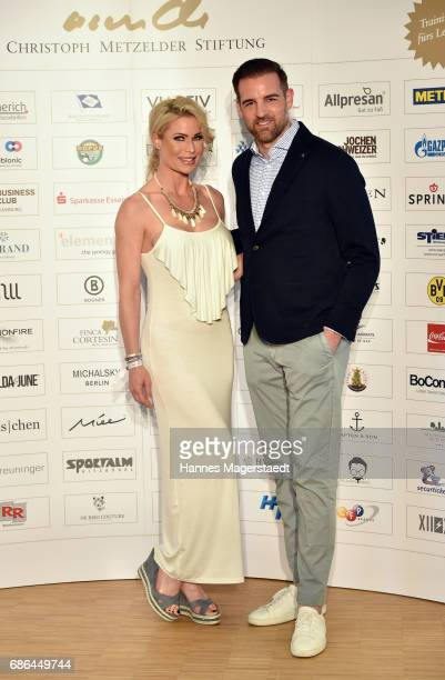Ramona Bernhard and Christoph Metzelder attend the Pre Golf Party during the 9th Golf Charity Cup hosted by the Christoph Metzelder Foundation at the...