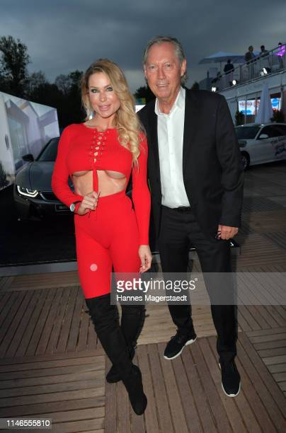 Ramona Bernhard and Werner Mang attend the Aufschlag bei BILD 2019 event on the occasion of the BMW Open by FWU on May 02 2019 in Munich Germany