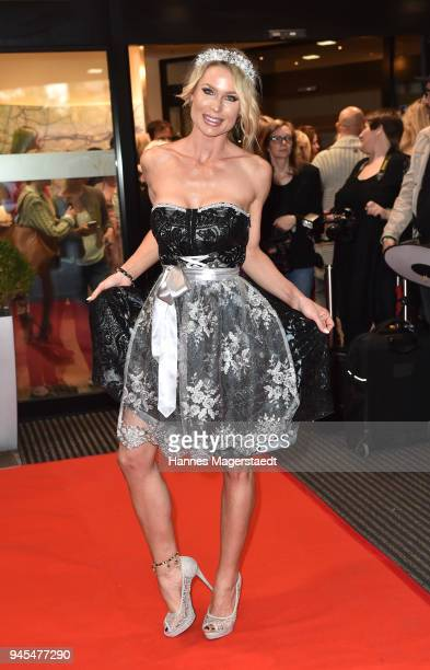 Ramona Bernhard attends Trachtentrends 2018 at Sheraton on April 12 2018 in Munich Germany
