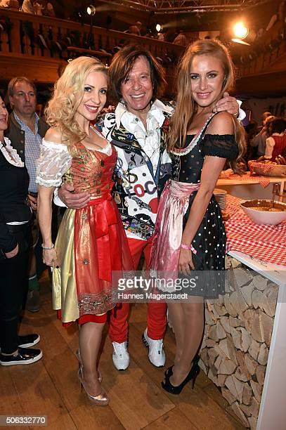 Ramona Drews Juergen Drews and Alena Gerber during the Weisswurstparty at Hotel Stanglwirt on January 22 2016 in Going Austria