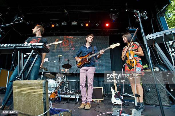 Ramona Falls perform at Bumbershoot at Seattle Center on September 1 2013 in Seattle Washington