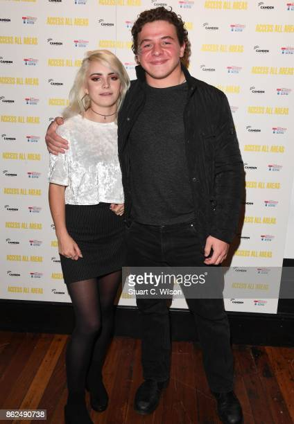 Ramona Marquez and Daniel Roche arrive at the 'Access All Areas' VIP gala screening held at Proud Camden on October 17, 2017 in London, England.