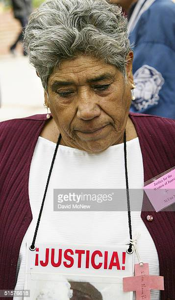 Ramona Morales whose 16yearold daughter Silvia Elena Rivera Morales was one of nearly 100 girls and women in Ciudad Juarez and Chihuahua City Mexico...