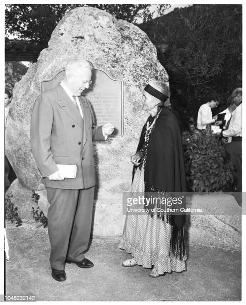 Ramona play award 19 April 1952 Governor Earl Warren Mrs Isadore Costo 70 years