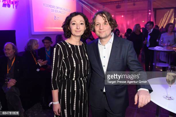 Ramona Pop and guest attend the Medienboard Berlin-Brandenburg Reception during the 67th Berlinale International Film Festival Berlin at on February...