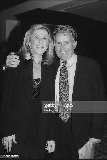 Ramona Ripston and Martin Sheen pause for a photograph at the ACLU of Southern California Torch of Liberty Dinner honoring Rob Reiner at the Century...