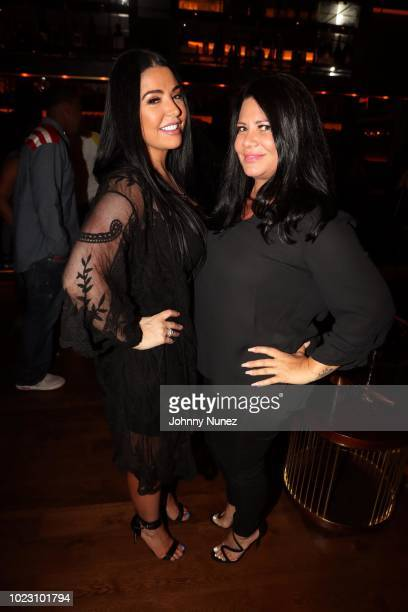 RaMona Rizzo and Karen Gravano attend Floyd Mayweather Hosts P Reala's Birthday Party at Scores on August 24 2018 in Atlantic City New Jersey