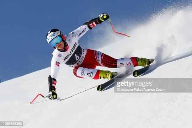 Ramona Siebenhofer of Austria competes during the Audi FIS Alpine Ski World Cup Women's Super G on December 8 2018 in St Moritz Switzerland