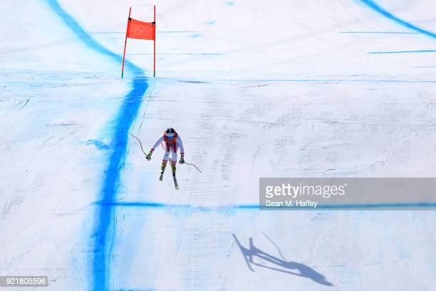 Ramona Siebenhofer of Austria competes during the Ladies' Downhill on day 12 of the PyeongChang 2018 Winter Olympic Games at Jeongseon Alpine Centre...