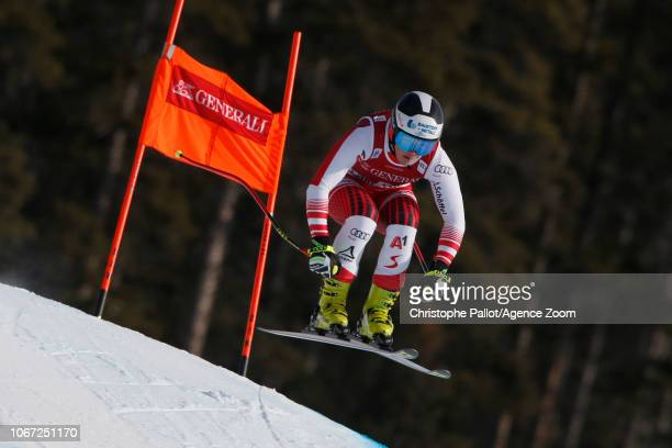 Ramona Siebenhofer of Austria in action during the Audi FIS Alpine Ski World Cup Women's Downhill on December 1 2018 in Lake Louise Canada