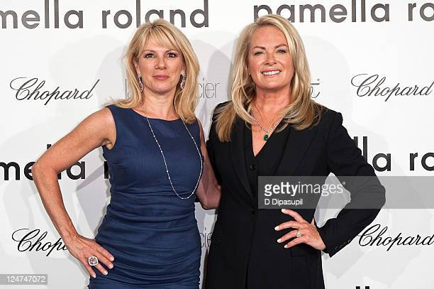Ramona Singer and designer Pamella Roland attend the Pamella Roland Spring 2012 presentation during MercedesBenz Fashion Week in The Box at Lincoln...