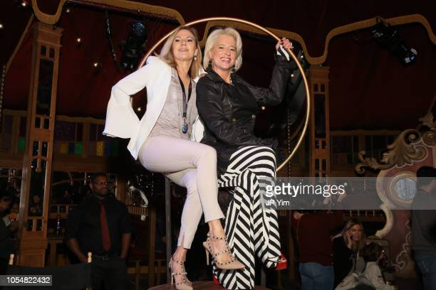 Ramona Singer and Dorinda Medley attend the opening night of the Big Apple Circus at Lincoln Center on October 28, 2018 in New York City.
