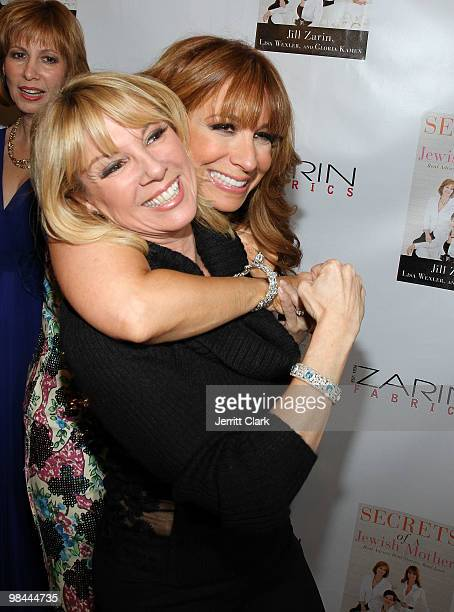 Ramona Singer and Jill Zarin attend Jill Zarin's 'Secrets Of A Jewish Mother' book launch party at Zarin Fabrics on April 13 2010 in New York City