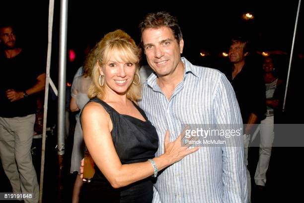 Ramona Singer and Mario Singer attend Denise and Daniella Rich host a Summer Cocktail to benefit Gabrielle's Angel Foundation for Cancer Research at...