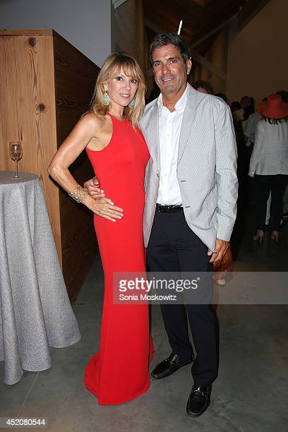 Ramona Singer and Mario Singer attend the 2014 Parrish Art Museum Midsummer Party at Parrish Art Museum on July 12 2014 in Southampton New York