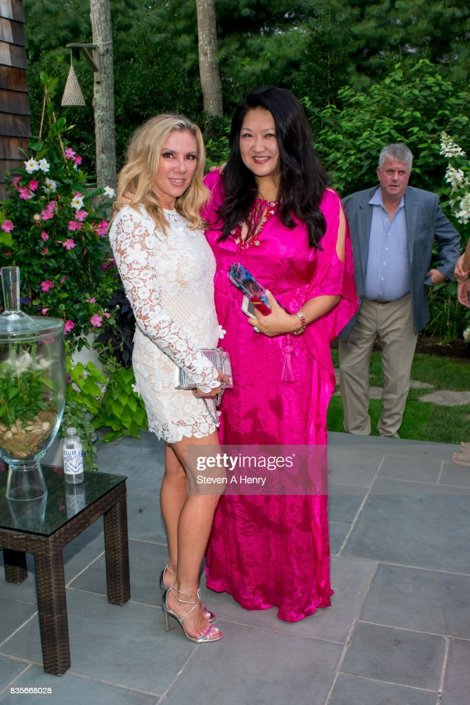 Ramona Singer and Susan Shin attend An Intimate Evening Under The Stars With Michael Bolton at Private Residence on August 19, 2017 in Bridgehampton, New York.