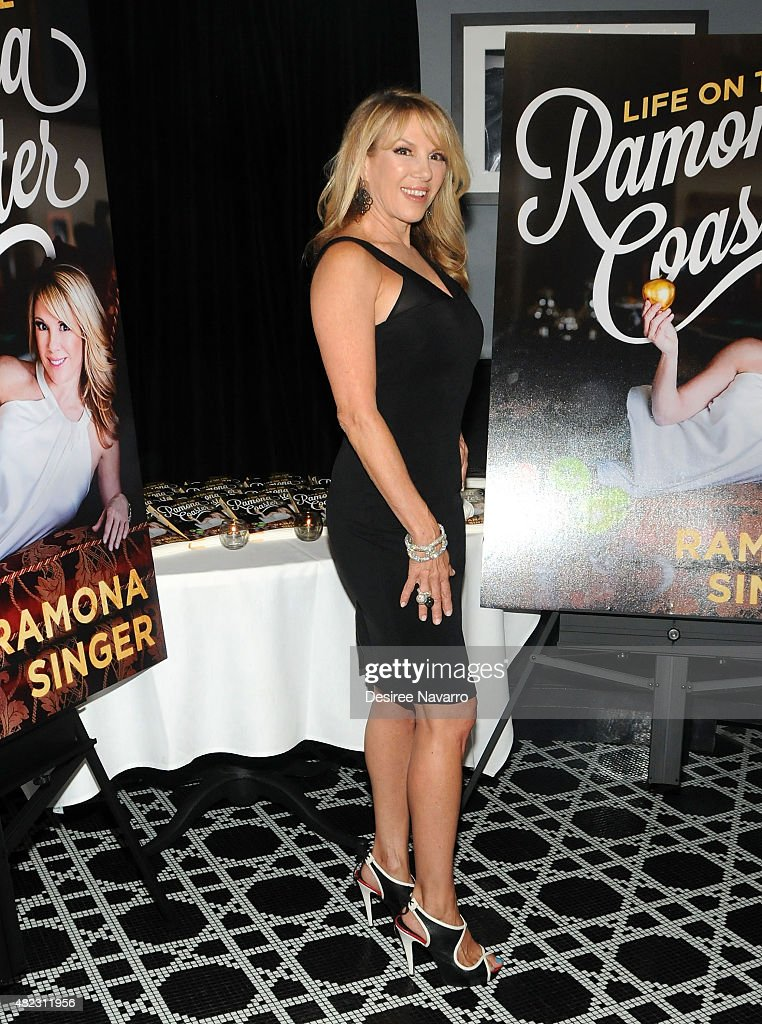Ramona Singer attends her 'Life on the Ramona Coaster' book launch event at Beautique on July 29, 2015 in New York City.