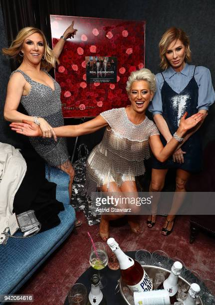Ramona Singer Dorinda Medley and Carole Radziwil attend The Real Housewives of New York Season 10 premiere celebration at LDV Hospitality's The...