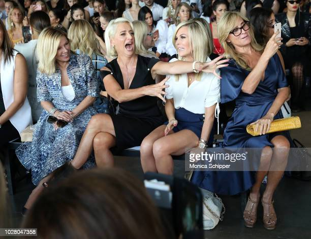Ramona Singer Dorinda Medley Tinsley Mortimer and Sonja Morgan attend the Pamella Roland fashion show during New York Fashion Week at Pier 59 on...
