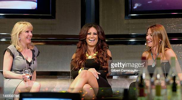 Ramona Singer from The Real Housewives of New York Tracy DiMarco from Jerseylicious and Drita D'Avanzo from Mobwives visit Parx Casino on May 25 2012...