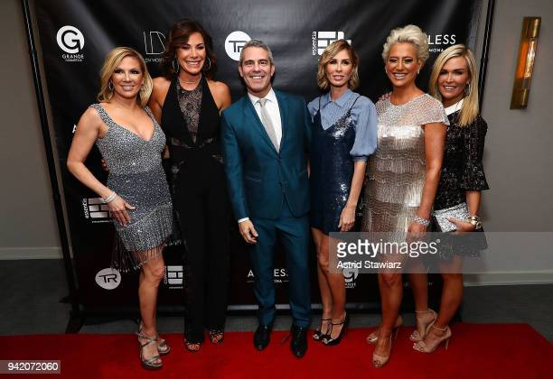 Ramona Singer Luann de Lesseps Andy Cohen Carole Radziwill Dorinda Medley and Tinsley Mortimer attend The Real Housewives of New York Season 10...