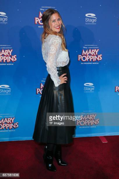 Ramona Stoeckli attend the red carpet at the premiere of the Mary Poppins musical at Stage Apollo Theater on October 23 2016 in Stuttgart Germany