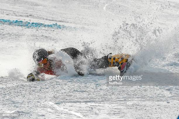 Ramona Theresia Hofmeister of  Germany at parallel giant slalom at winter olympics Gangneung South Korea on February 24 2018