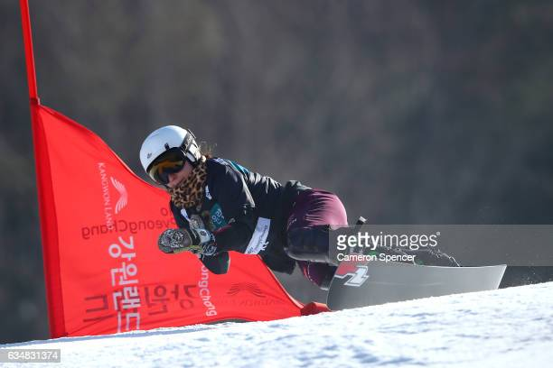 Ramona Theresia Hofmeister of Germany competes in the FIS Freestyle World Cup Parallel Giant Slalom Ladies Final at Bokwang Snow Park on February 12...