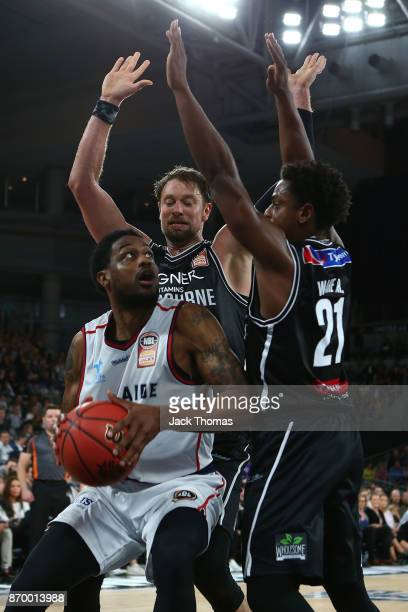 Ramone Moore of the Adelaide 36ers attempts a layup during the round five NBL match between Melbourne United and the Adelaide 36ers at Hisense Arena...