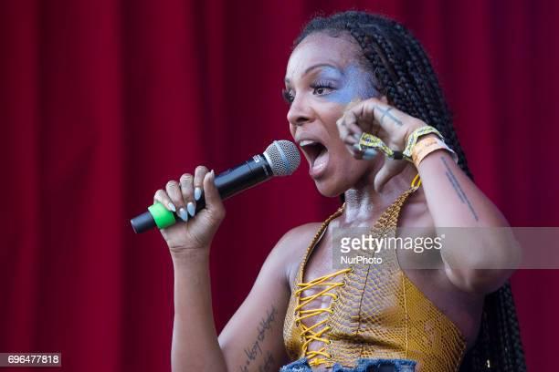 RampB music DAWN during her performance at Barcelona's Sonar 2017 Festival in Barcelona Spain on June 15 2017