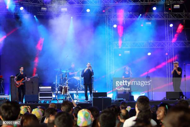 RampB musical duo Rhye perform at the NOS Alive music festival in Lisbon Portugal on July 6 2017 The NOS Alive music festival runs from July 6 to...