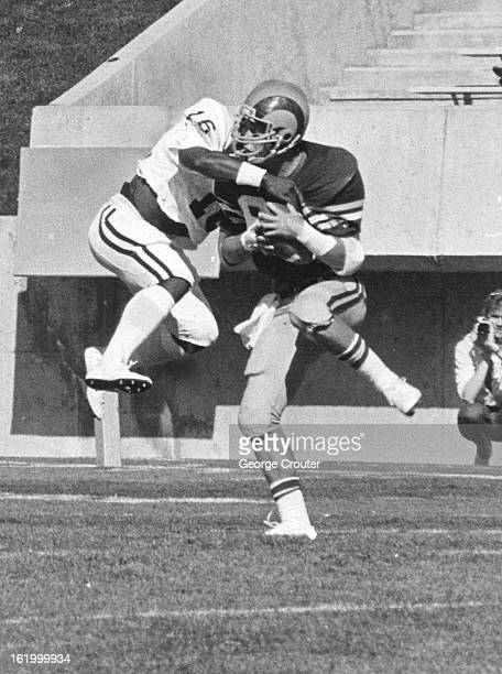 OCT 10 1981 OCT 11 1981 Rams' Keli McGregor makes catch despite MSU defender
