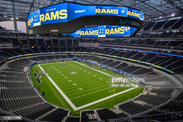 Rams play a scrimmage for the first time at an empty SoFi Stadium Saturday, Aug. 22, 2020 in Inglewood, CA. Brian van der Brug / Los Angeles Times...