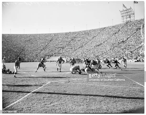 Rams versus Green Bay Packers. December 11 1955. 'Sports';;Caption slip reads: 'Photographer: Cicero. Date: . 1: 27 Rams goes 55 yards for Rams first...