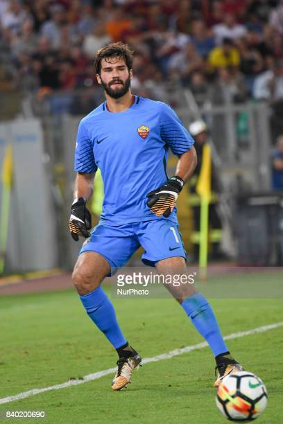 Ramses Becker Allison of AS Roma during the Italian Serie A football match between AS Roma and FC Inter at the Olympic Stadium in Rome on august 26...