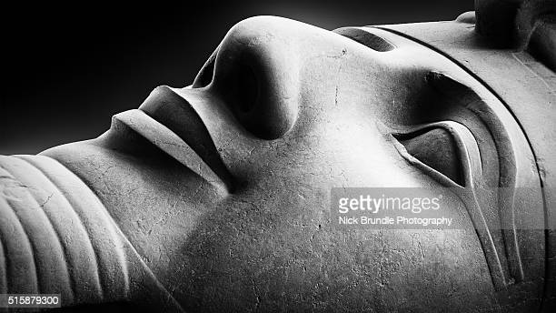 ramses ii statue head. - rameses ii stock photos and pictures