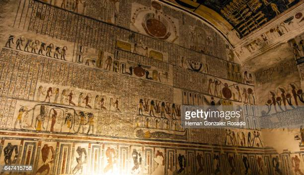ramses vi - tomb stock pictures, royalty-free photos & images