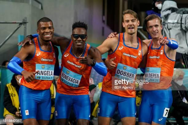 Ramsey Angela of The Netherlands, Liemarvin Bonevacia of The Netherlands, Jochem Dobber of The Netherlands and Tony van Diepen of The Netherlands...