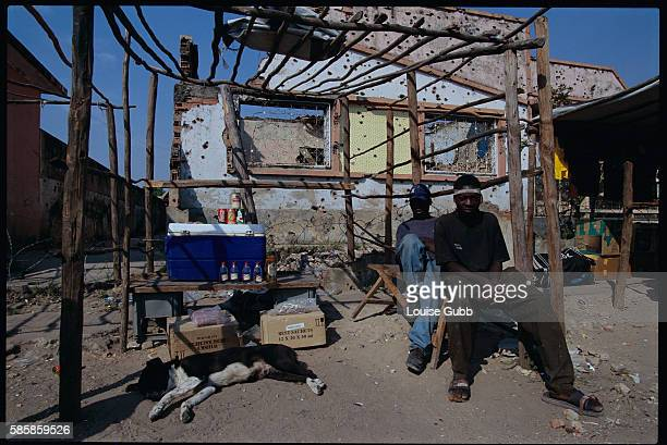 A ramshackle market in Kuito Angola offers meager supplies that can be bought with oil After Angola gained independence from Portugal in 1975 civil...