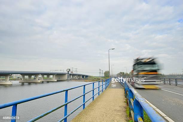 ramspol bridge - overijssel stock photos and pictures