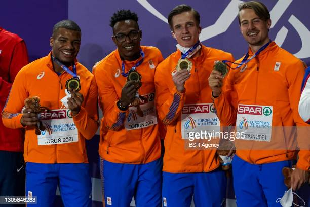 Ramsy Angela of The Netherlands, Liemarvin Bonevacia of The Netherlands, Tony van Diepen of The Netherlands and Jochem Dobber of The Netherlands show...