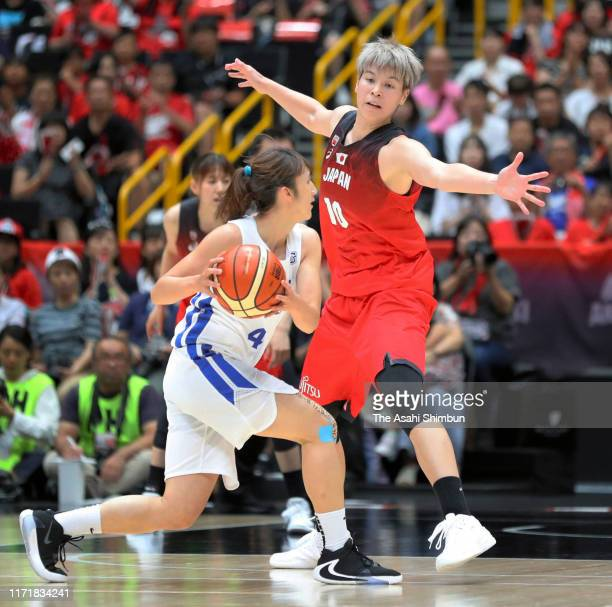 Ramu Tokashiki of Japan in action during the Game One of the women's basketball international game between Japan and Chinese Taipei at Saitama Super...