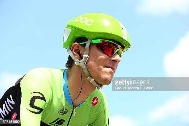 Ramunas Navardauskas of Lithuania riding for Cannondale-Garmin is pictured near the starting line during the 2015 Tour of France, Stage 6, Abbeville...
