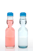 ramune carbonated soft drink bottle white