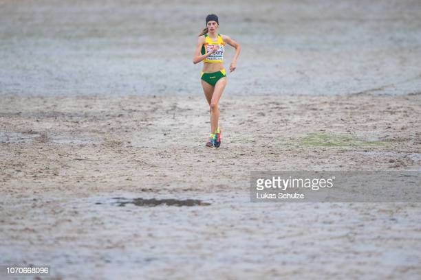 Ramune Klybaite of Lithuania competes during the U20 Women's race of the SPAR European Cross Country Championships on December 9 2018 in Tilburg...