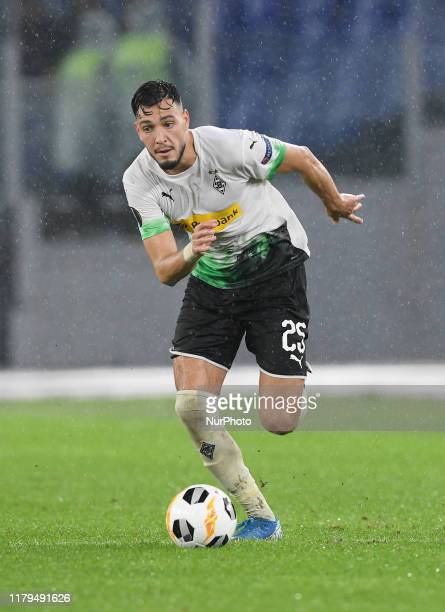 Ramy Bensebaini during the Europe League football match AS Roma vs Borussia Monchengladbach at the Olympic Stadium in Rome on october 24 2019