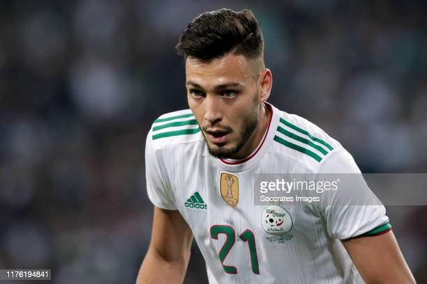 Ramy Bensebaini of Algeria during the International Friendly match between Algeria v Colombia at the Stade Pierre Mauroy on October 15 2019 in Lille...