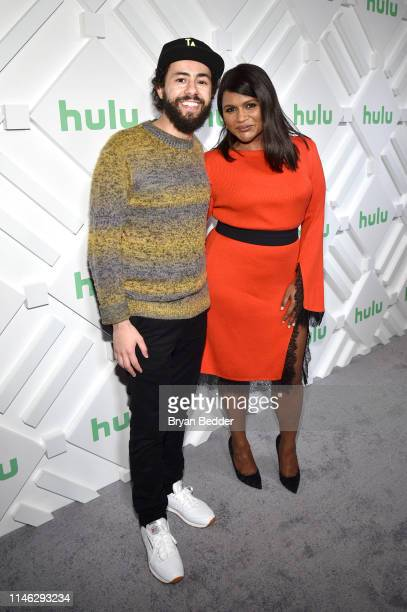 Ramy Youssef and Mindy Kaling attend during the Hulu '19 Brunch at Scarpetta on May 01 2019 in New York City